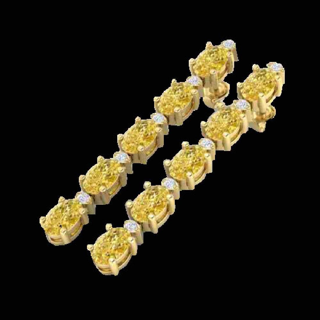 6 CTW Citrine & VS/SI Diamond Tennis Earrings 10K