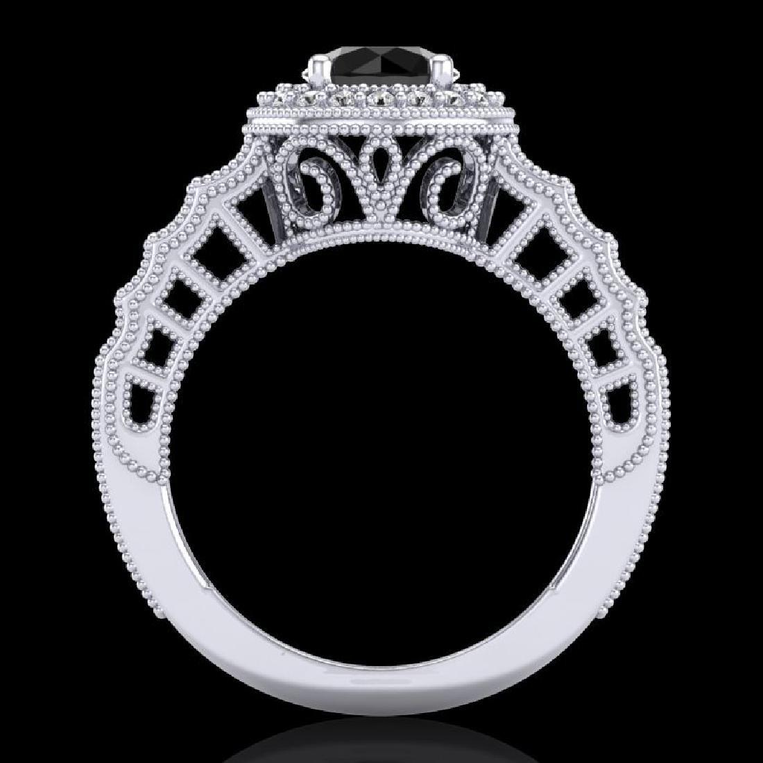 1.53 CTW Fancy Black Diamond Solitaire Engagement Art - 3