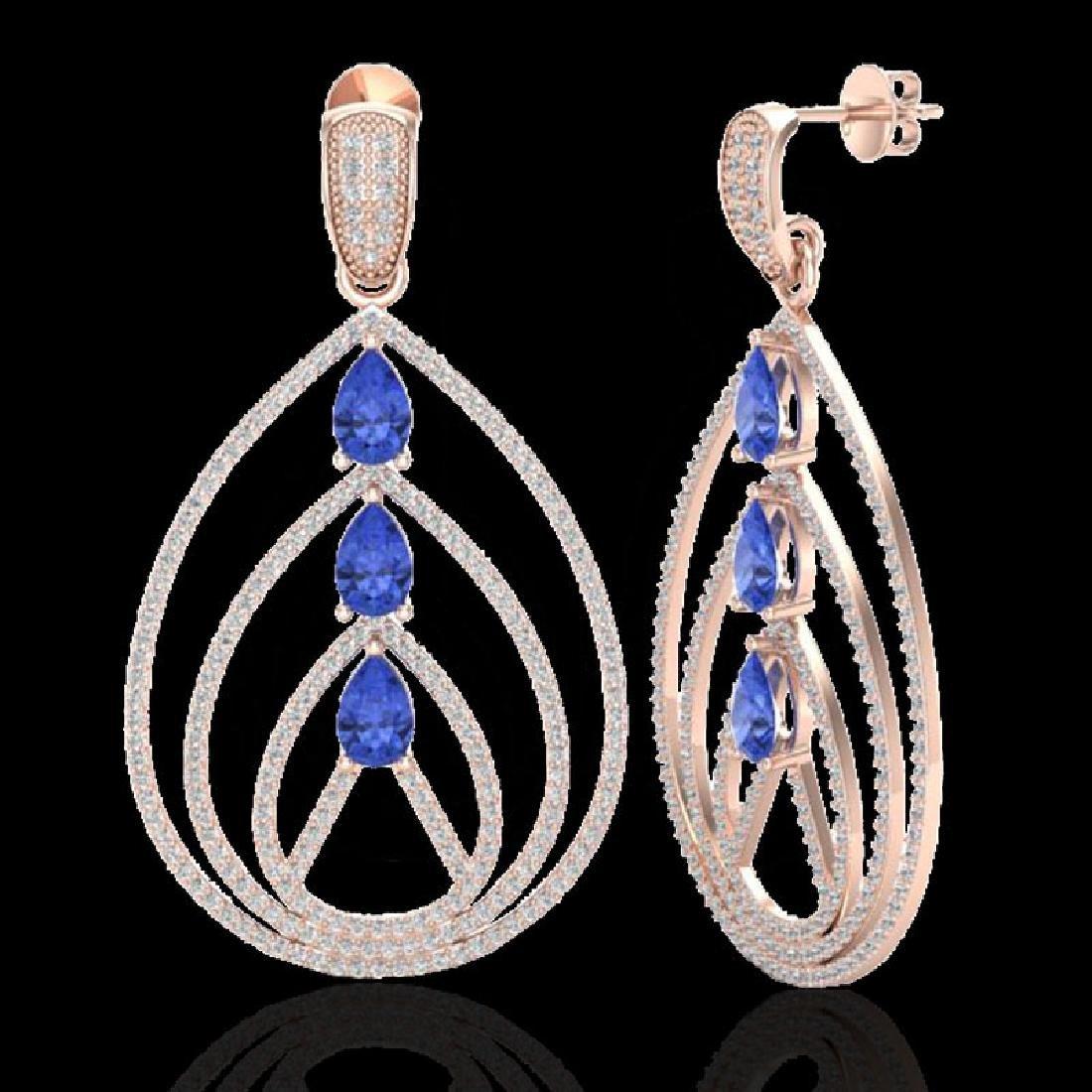 4 CTW Tanzanite & Micro Pave VS/SI Diamond Designer