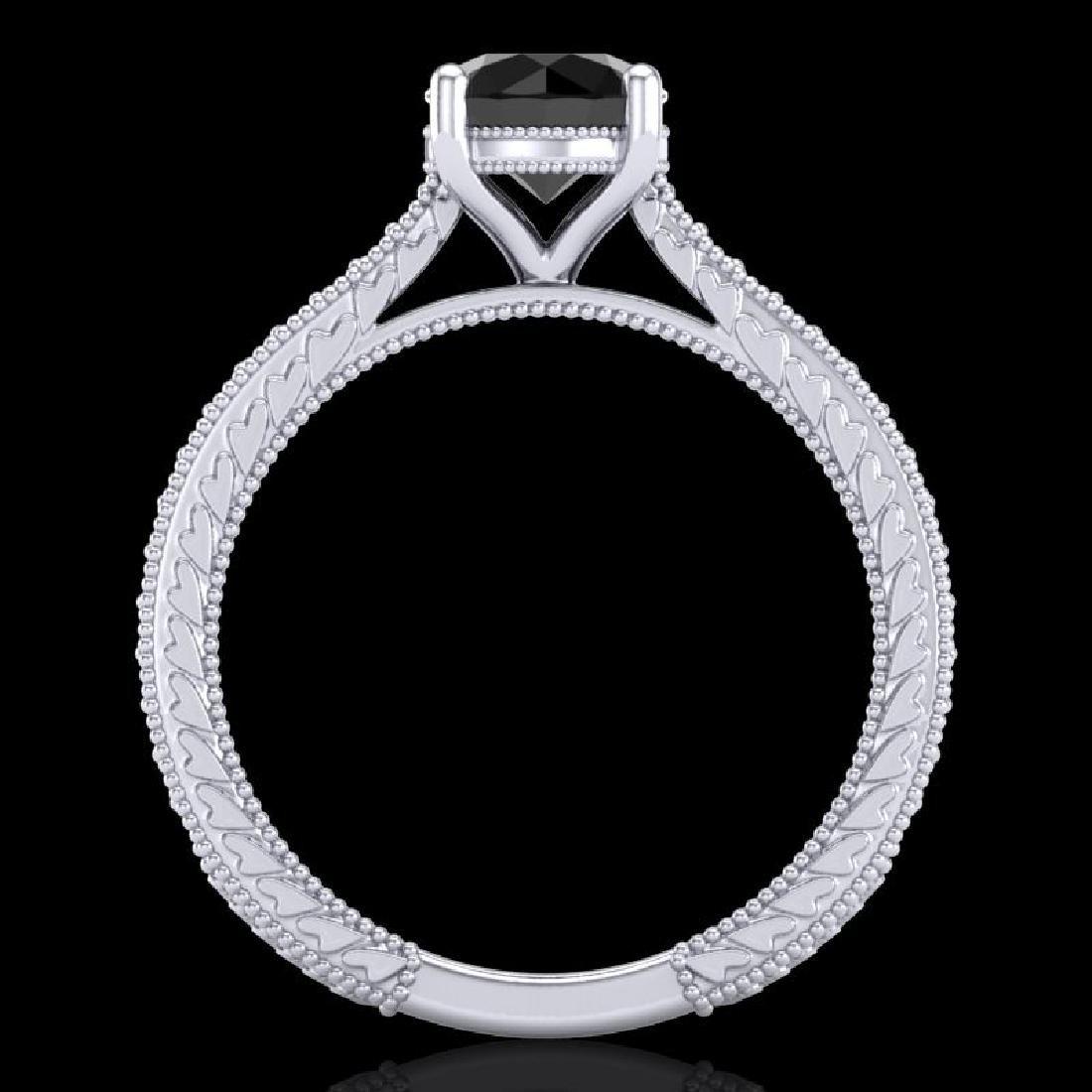 1.45 CTW Fancy Black Diamond Solitaire Engagement Art - 3