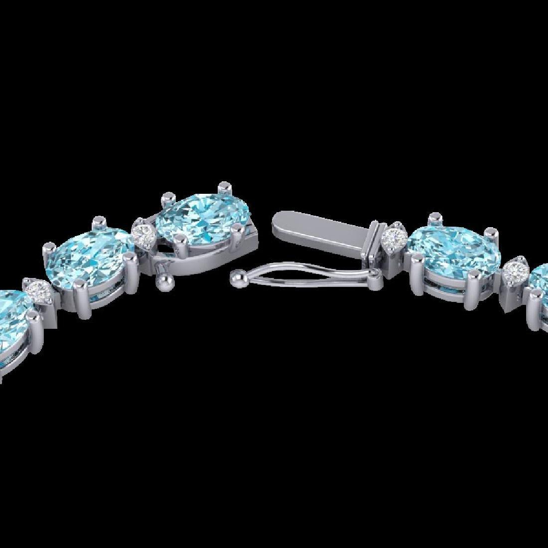 46.5 CTW Sky Blue Topaz & VS/SI Certified Diamond