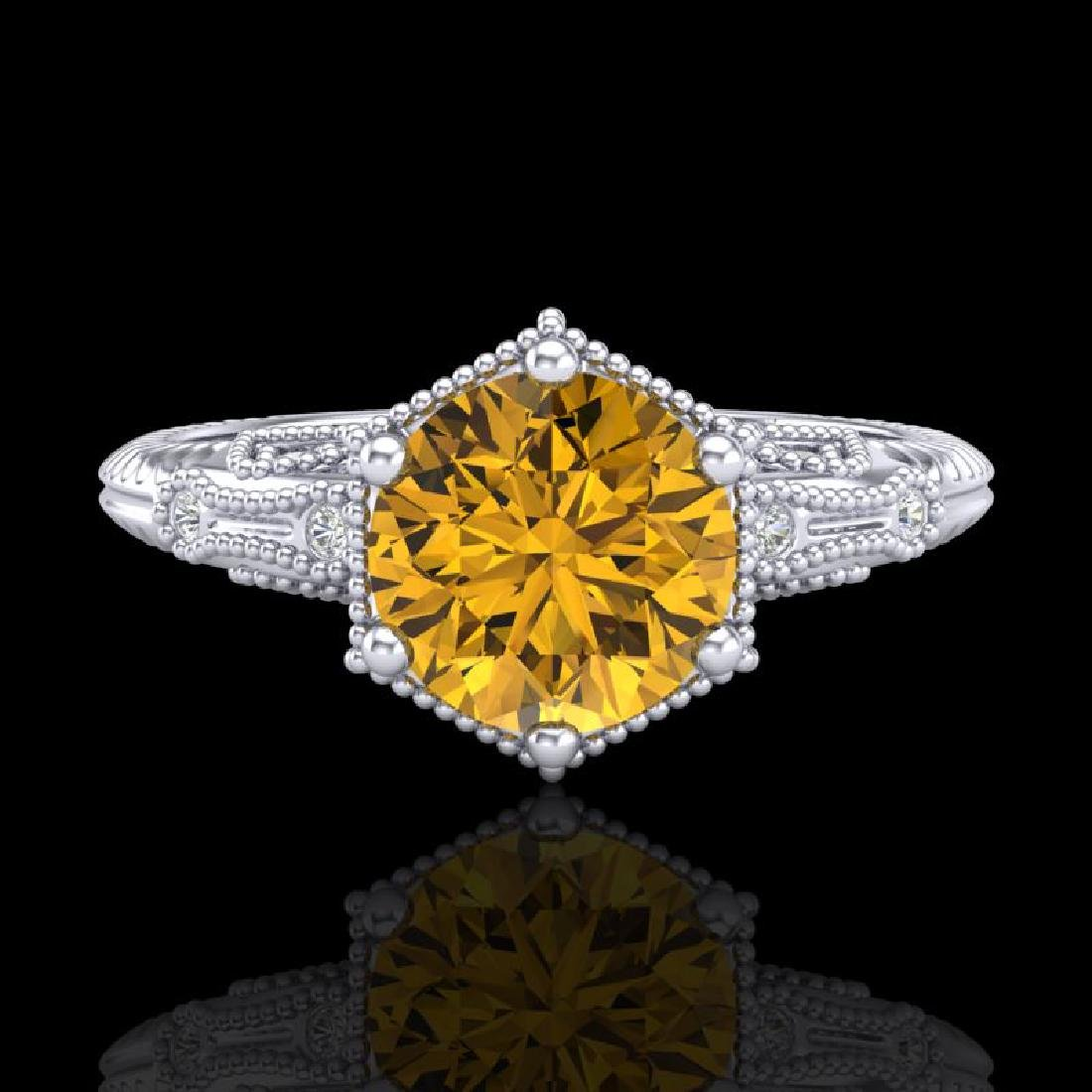 1.17 CTW Intense Fancy Yellow Diamond Engagement Art - 2