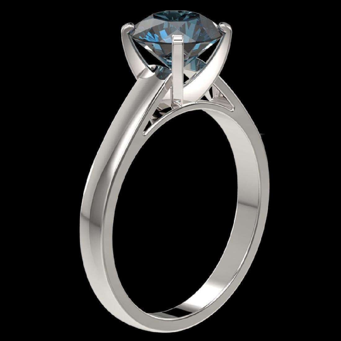 2.04 CTW Certified Intense Blue SI Diamond Solitaire - 2