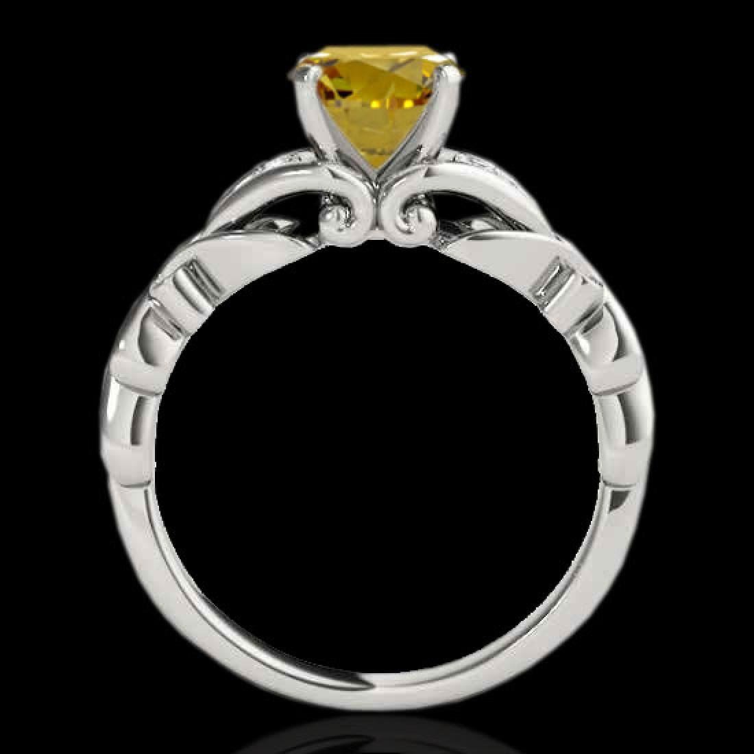 1.35 CTW Certified Si Fancy Yellow Diamond Solitaire - 2