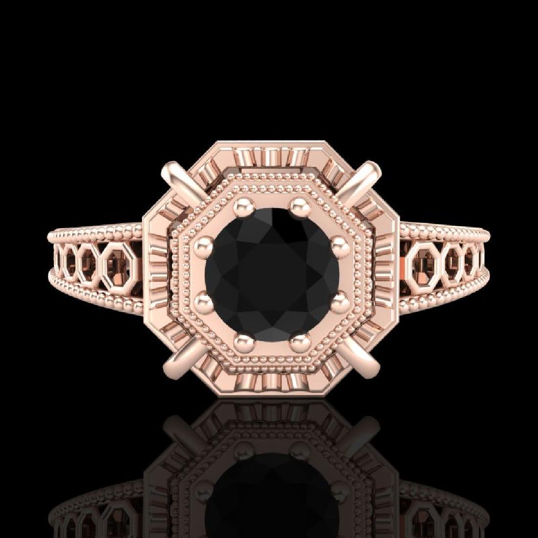 0.53 CTW Fancy Black Diamond Solitaire Engagement Art - 2