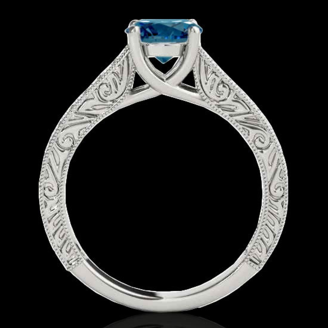1.82 CTW SI Certified Fancy Blue Diamond Solitaire Ring - 2