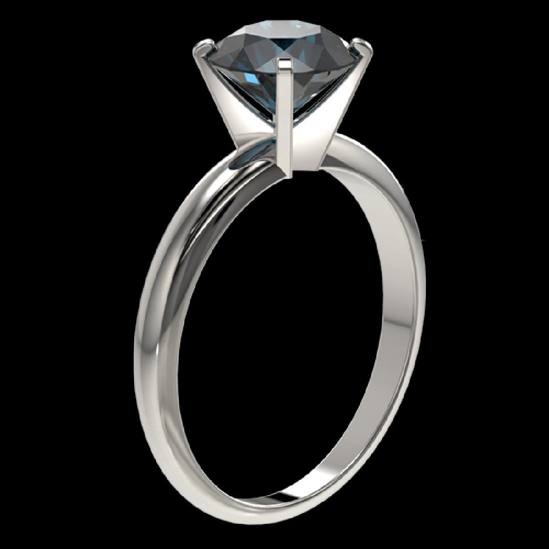 2 CTW Certified Intense Blue SI Diamond Solitaire - 3