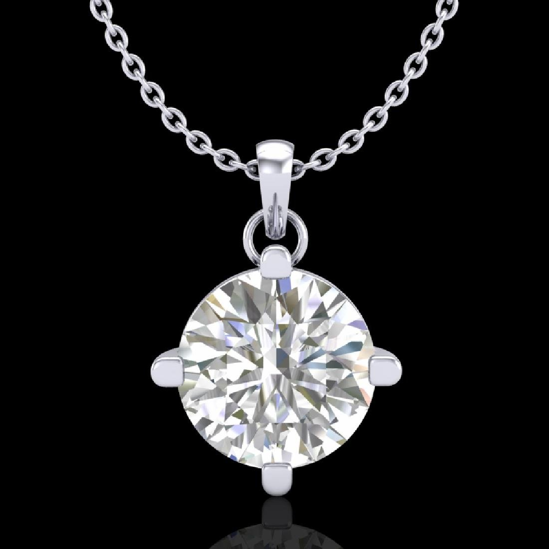 1 CTW VS/SI Diamond Solitaire Art Deco Stud Necklace