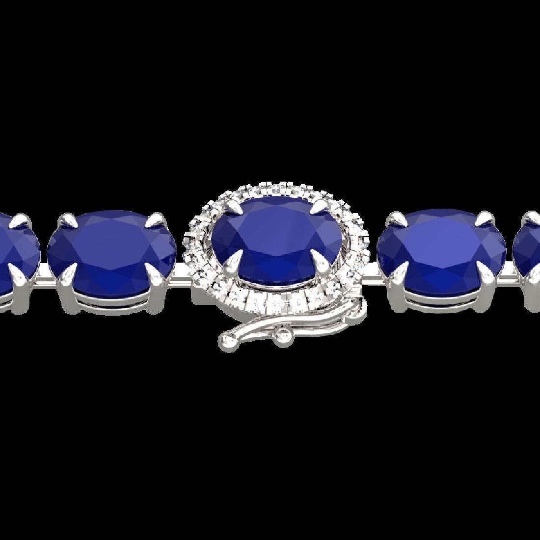 37 CTW Sapphire & VS/SI Diamond Tennis Micro Pave Halo