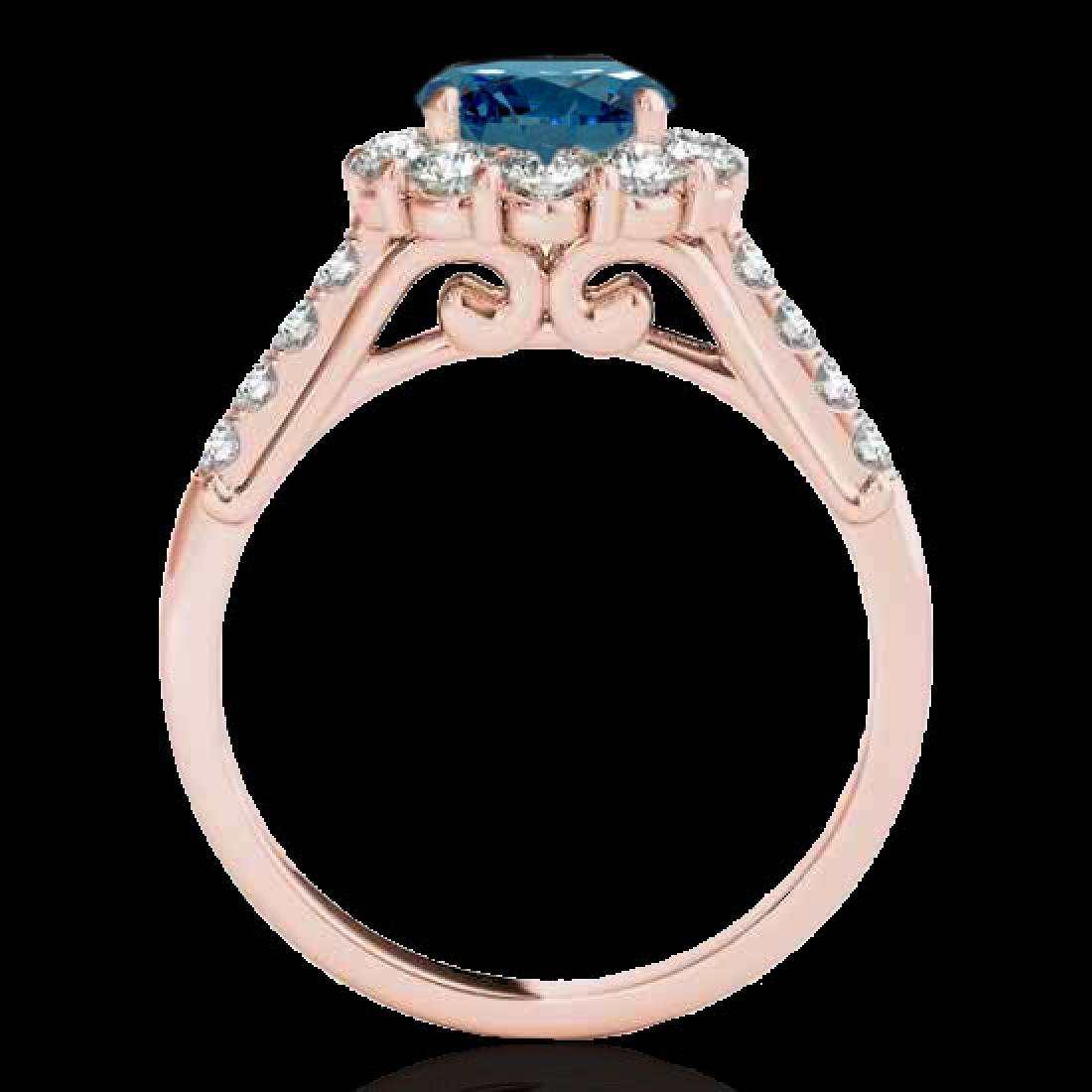 2.75 CTW SI Certified Fancy Blue Diamond Solitaire Halo - 2