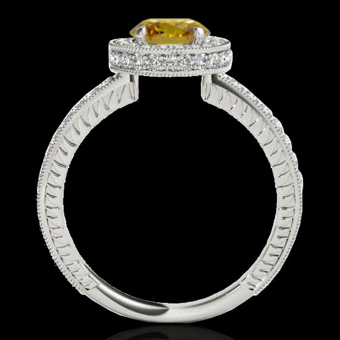 1.51 CTW Certified SI/I Fancy Intense Yellow Diamond - 2