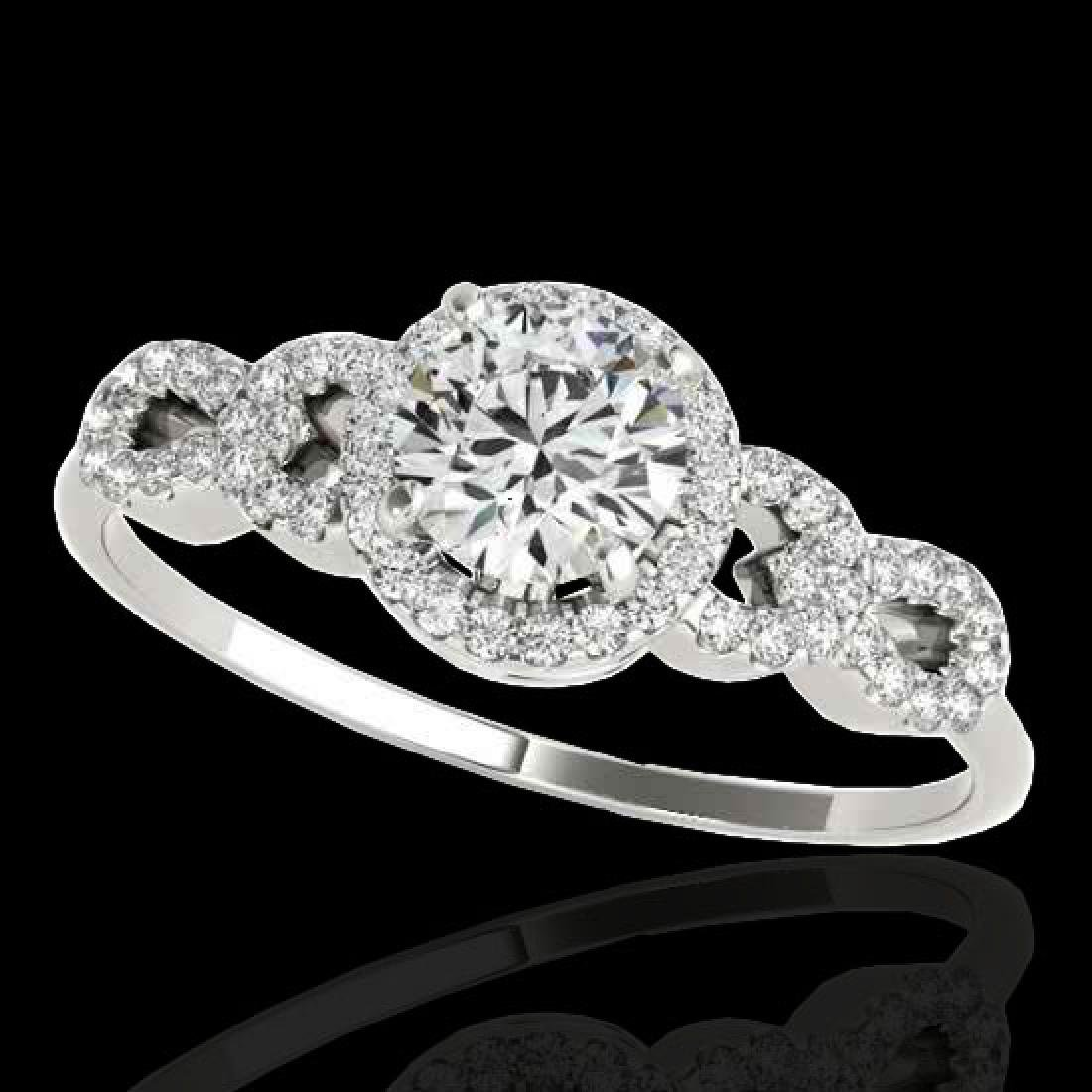 1.33 CTW H-SI/I Certified Diamond Solitaire Ring 10K