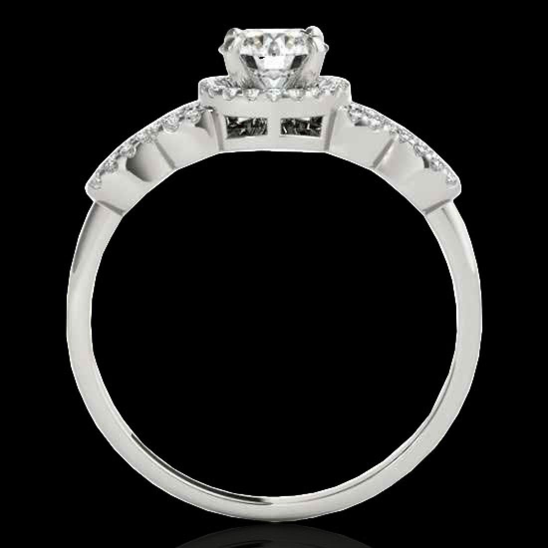 1.33 CTW H-SI/I Certified Diamond Solitaire Ring 10K - 2
