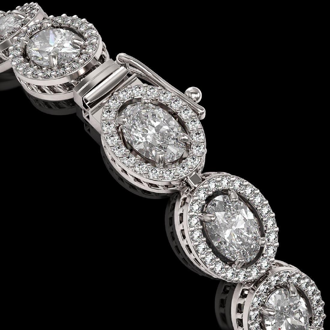 13.25 CTW Oval Diamond Designer Bracelet 18K White Gold - 3
