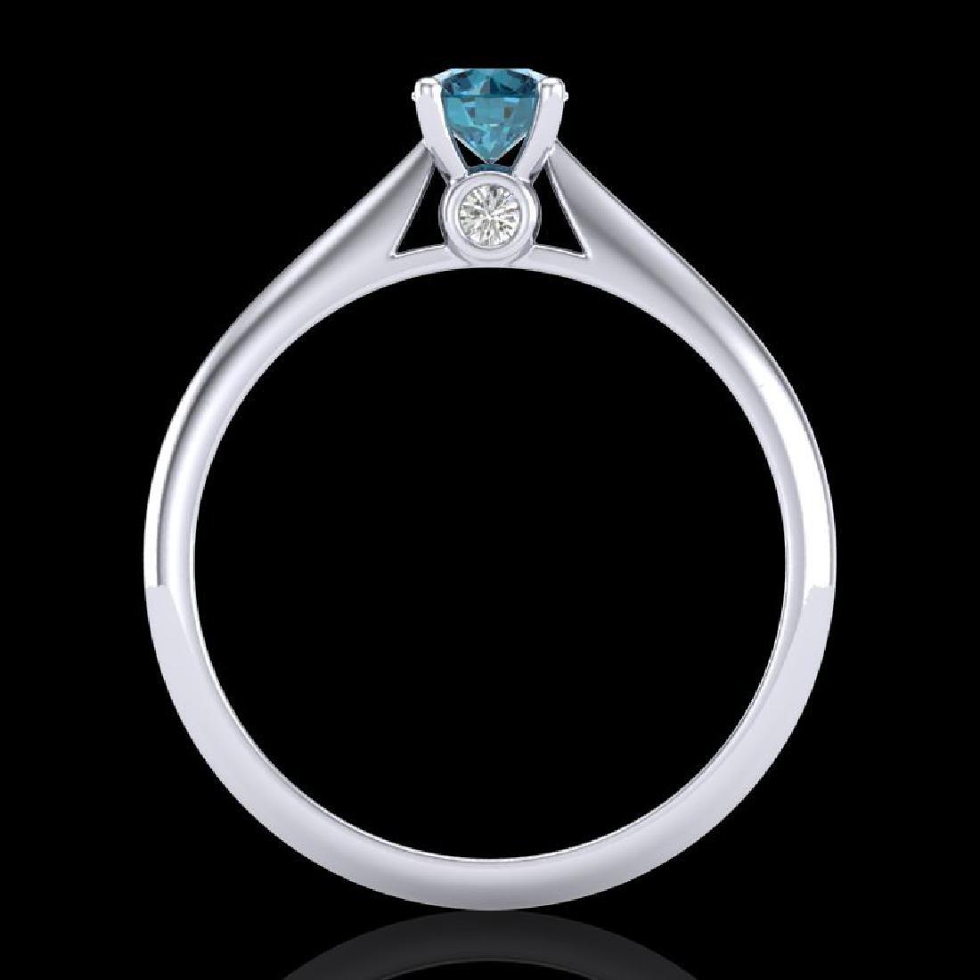 0.4 CTW Intense Blue Diamond Solitaire Engagement Art - 3