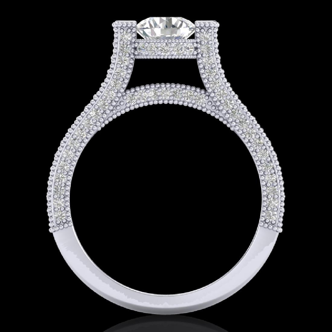 2 CTW VS/SI Diamond Micro Pave Ring 18K White Gold