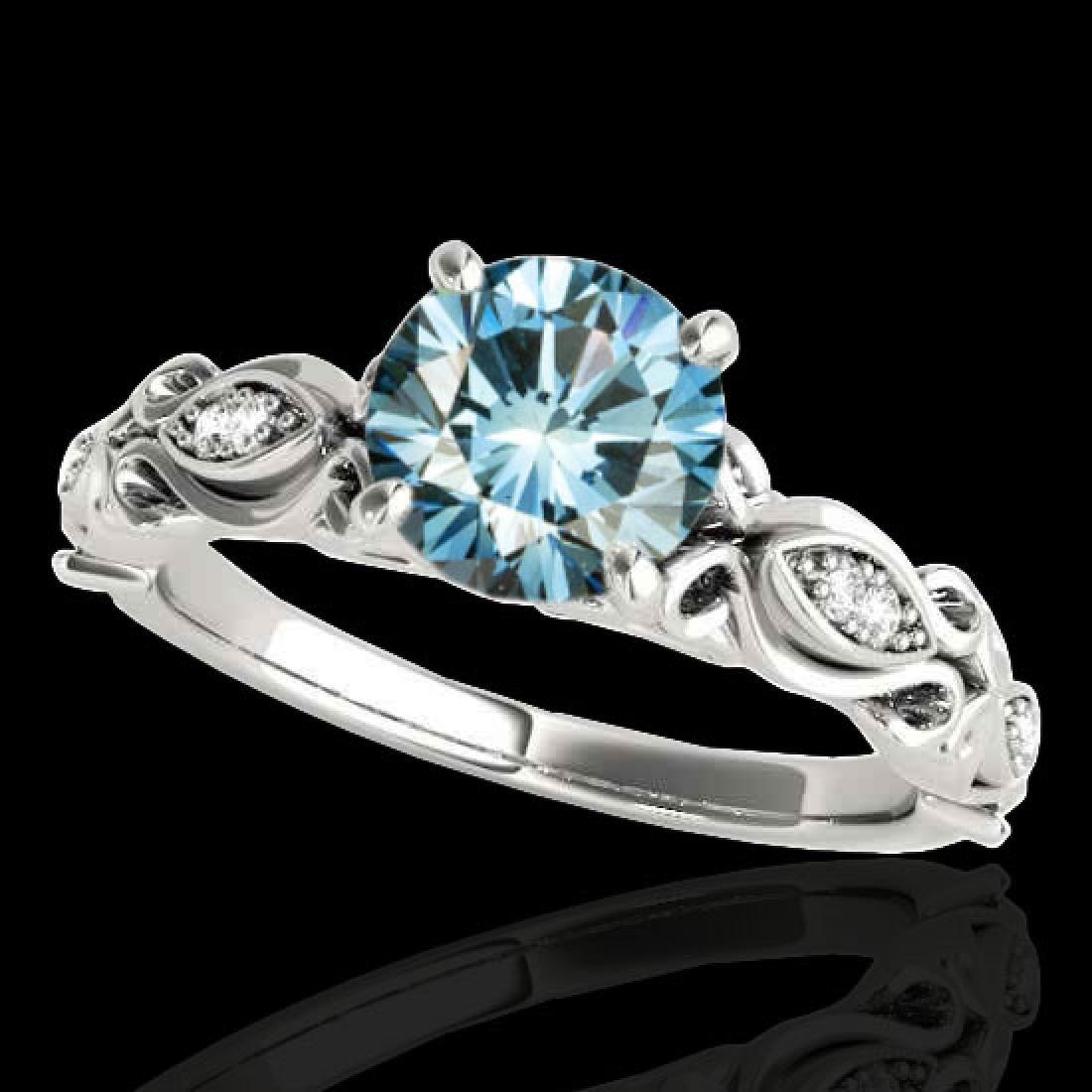 1.1 CTW SI Certified Fancy Blue Diamond Solitaire
