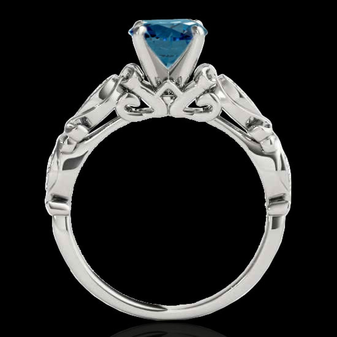 1.1 CTW SI Certified Fancy Blue Diamond Solitaire - 2