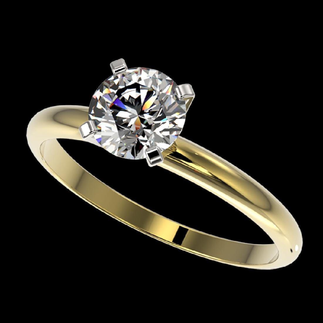 1.03 CTW Certified H-SI/I Quality Diamond Solitaire