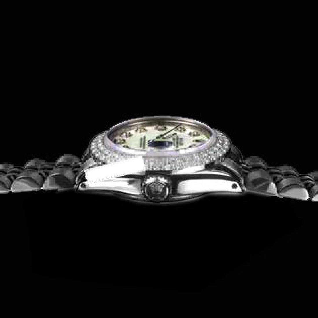 Rolex Men's Stainless Steel, QuickSet, Diamond Dial & - 3