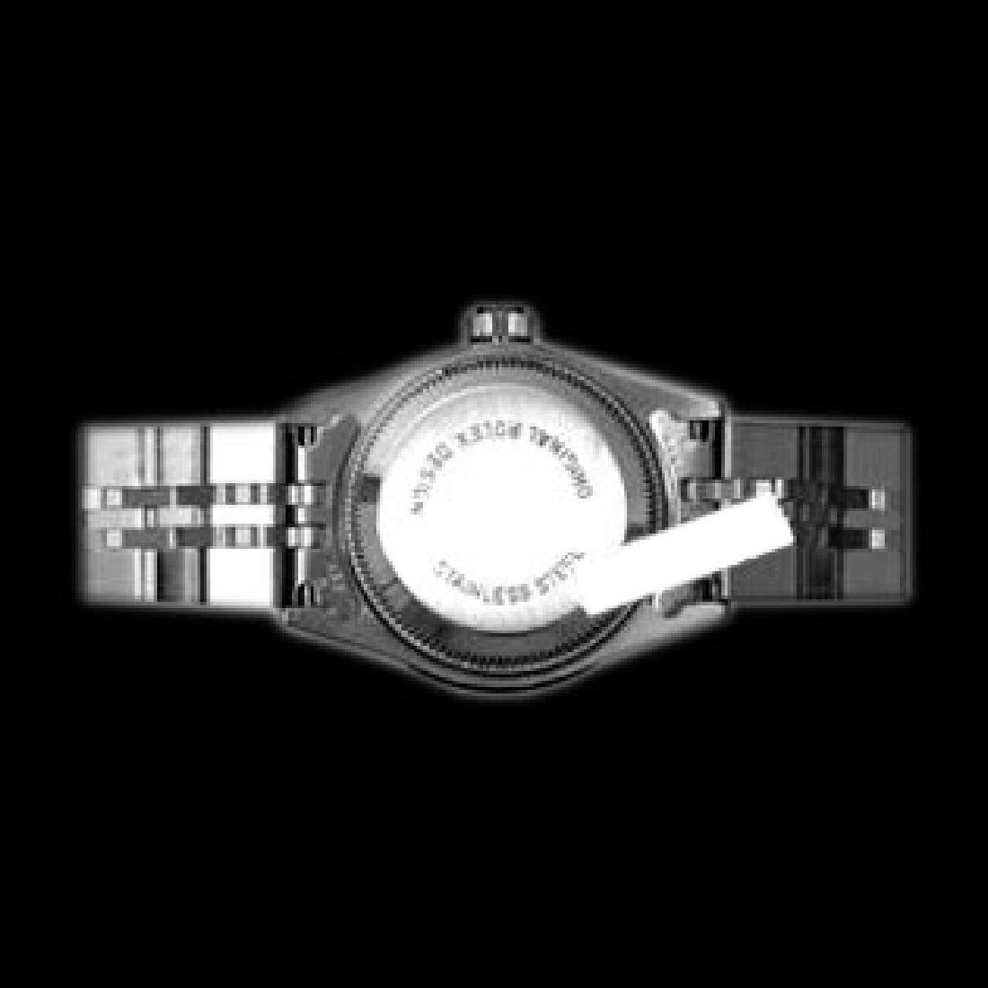 Rolex Men's Stainless Steel, QuickSet, Diamond Dial & - 4
