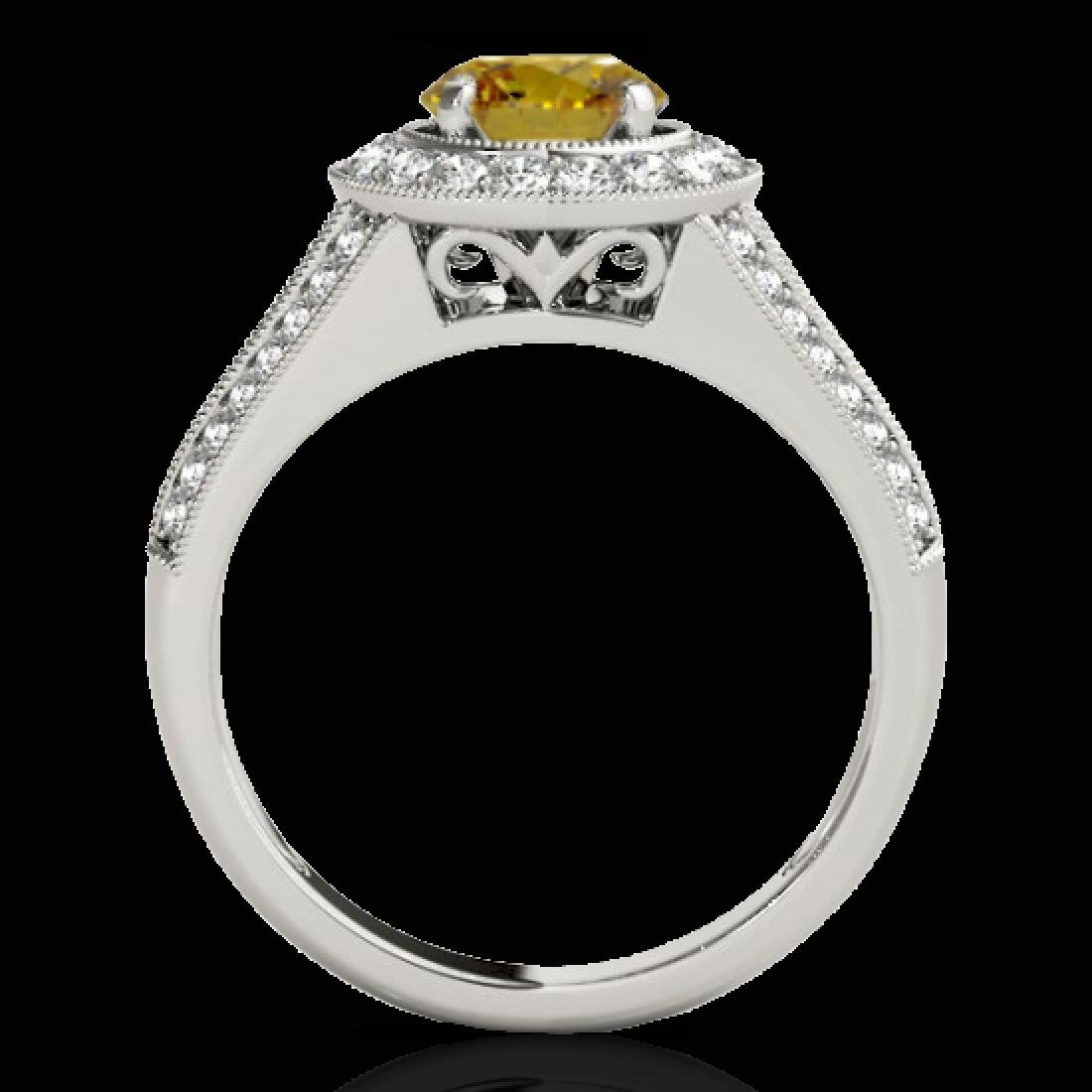 2.17 CTW Certified SI/I Fancy Intense Yellow Diamond - 2