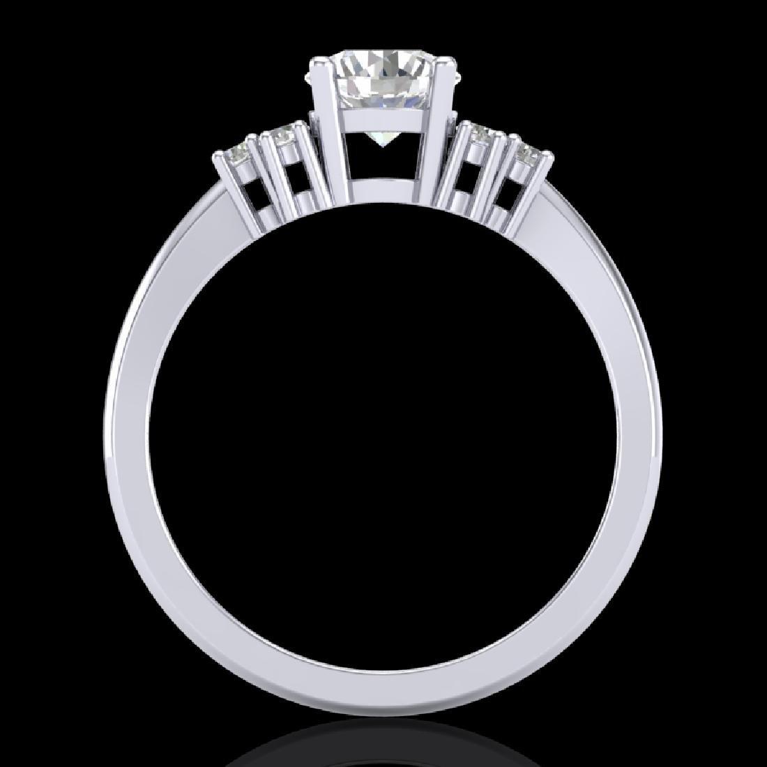 1 CTW VS/SI Diamond Solitaire Ring 18K White Gold - 2