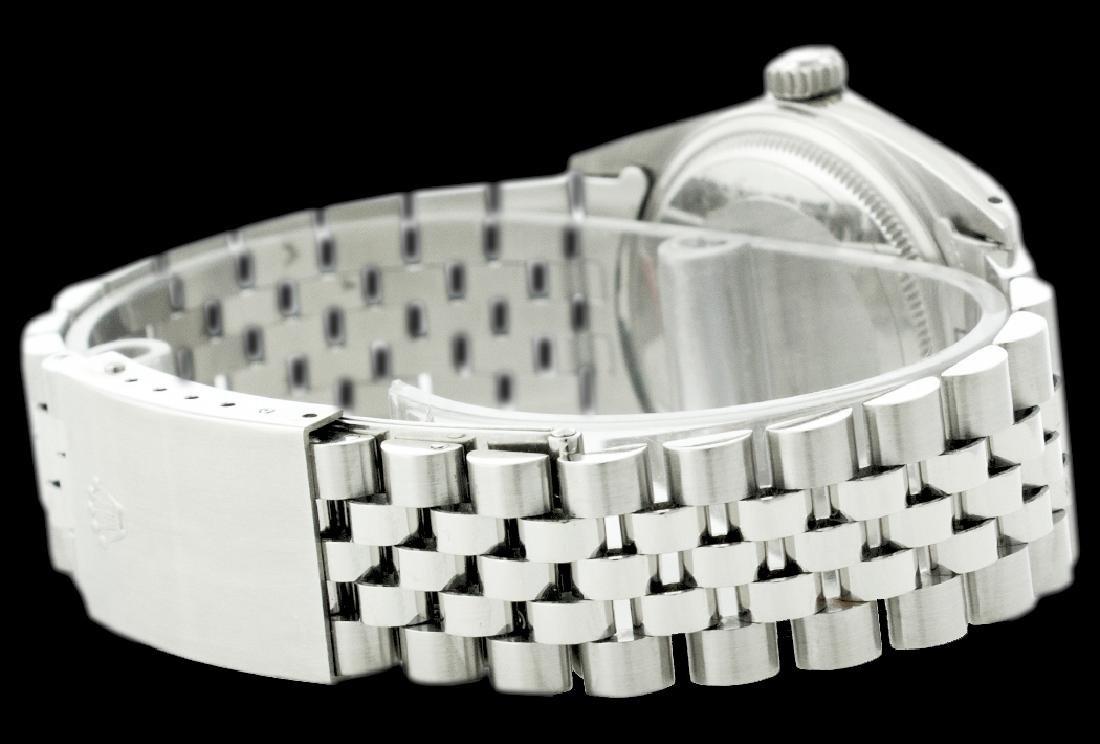 Rolex Men's Stainless Steel, QuickSet, Index Bar Dial, - 3