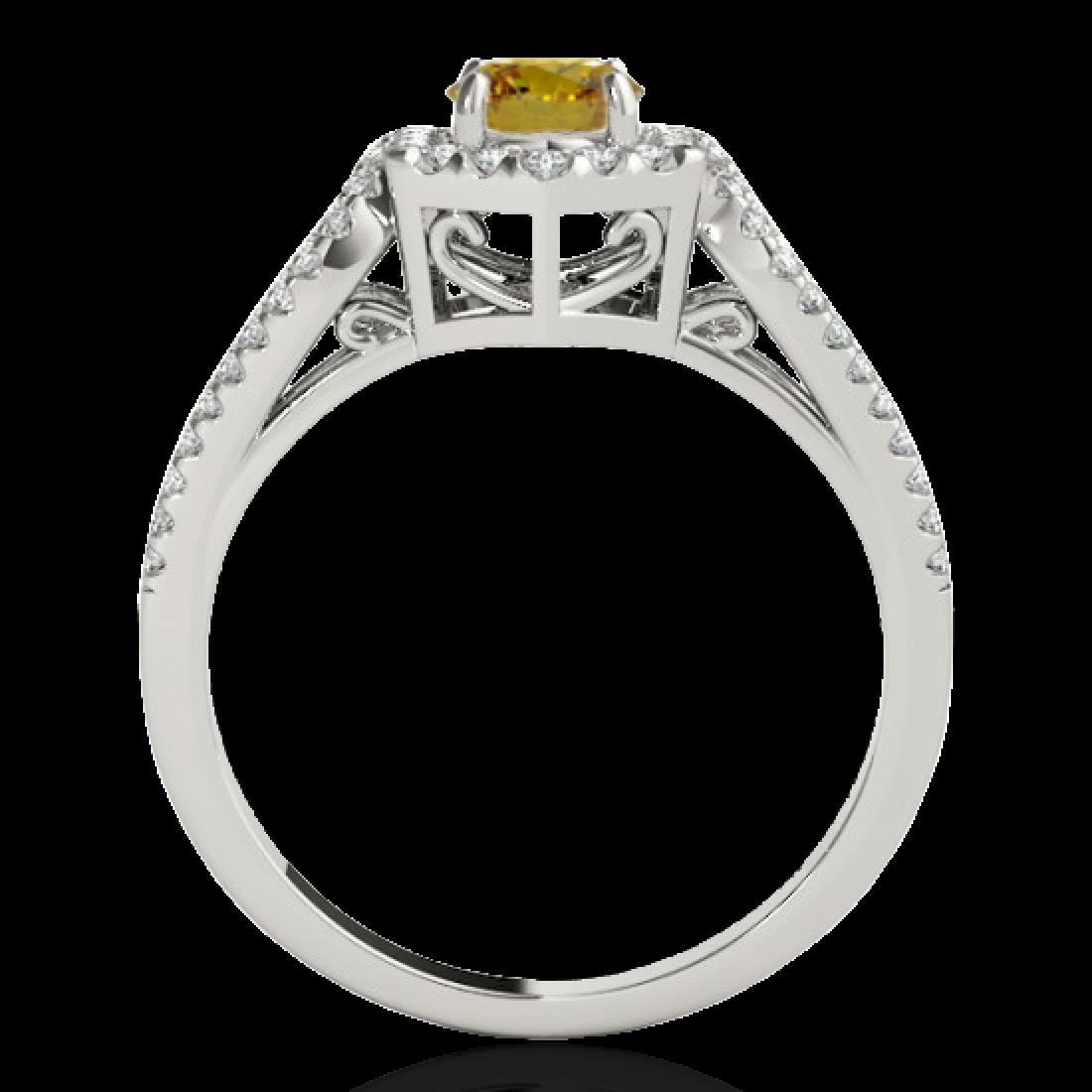 1.43 CTW Certified SI/I Fancy Intense Yellow Diamond - 2