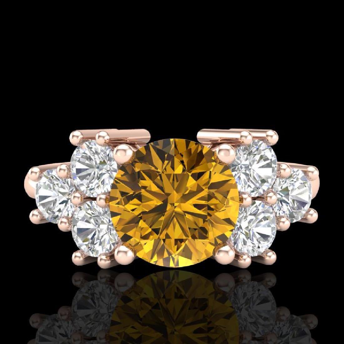 2.1 CTW Intense Fancy Yellow Diamond Solitaire Classic - 2