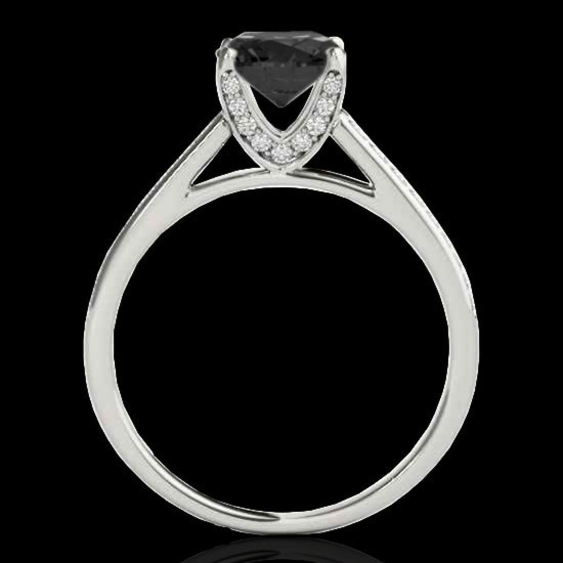 2 CTW Certified VS Black Diamond Solitaire Ring 10K - 2