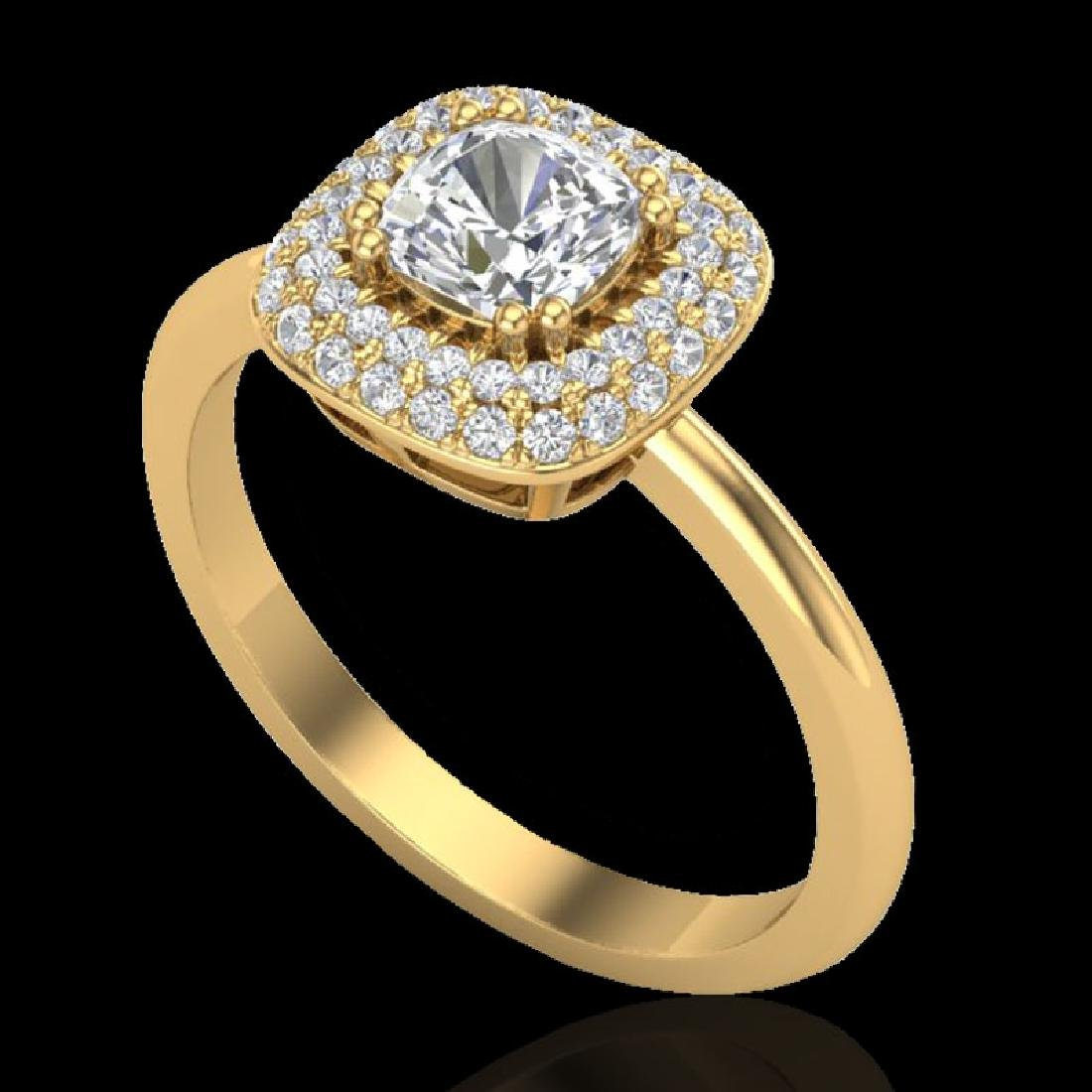 1.16 CTW Micro Si Cushion Diamond Engagement Ring - 2
