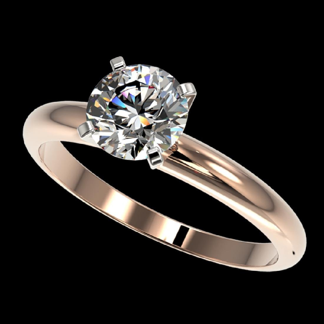 1.28 CTW Certified H-SI/I Quality Diamond Solitaire