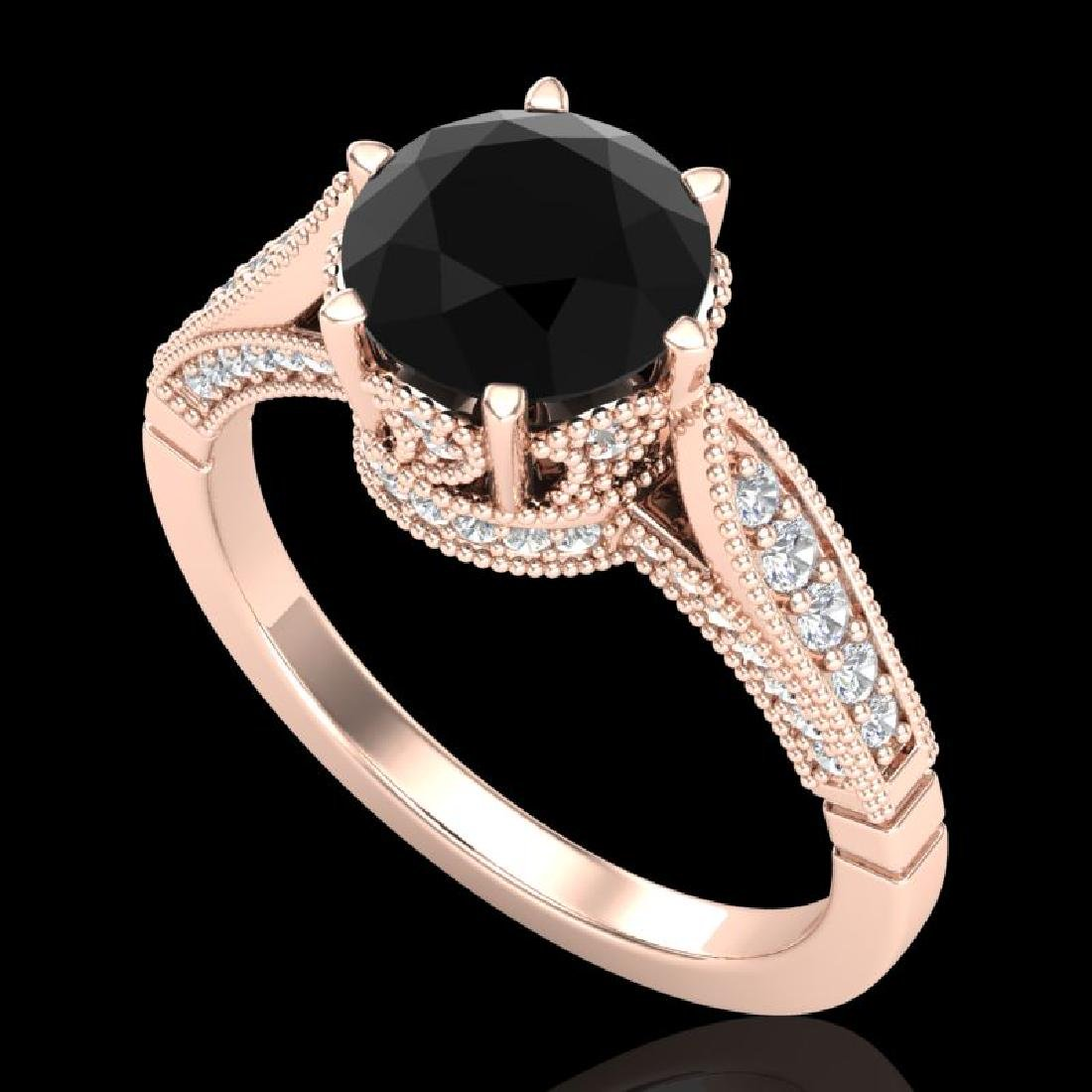 2.2 CTW Fancy Black Diamond Solitaire Engagement Art
