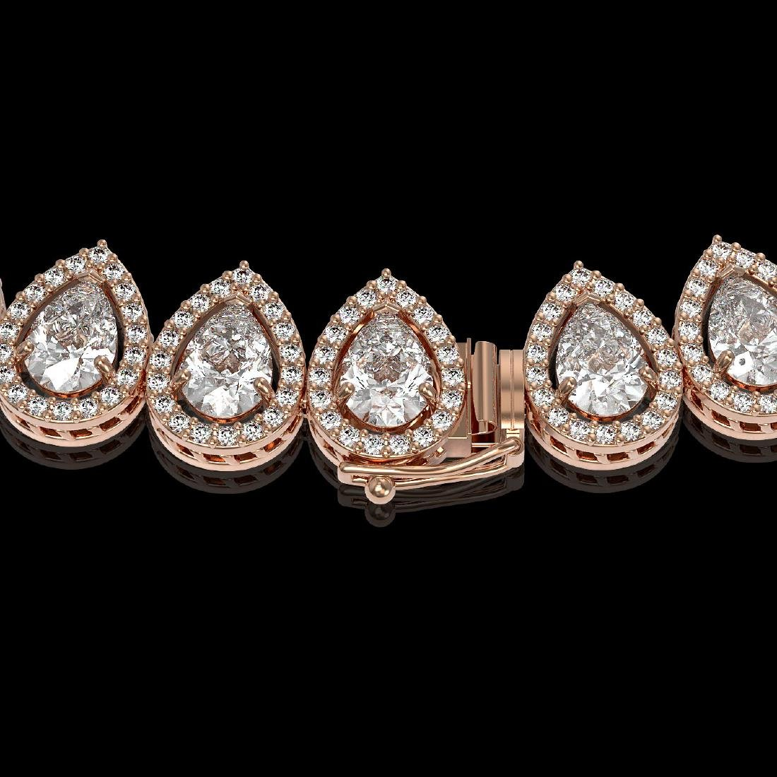 34.83 CTW Pear Diamond Designer Necklace 18K Rose Gold - 3