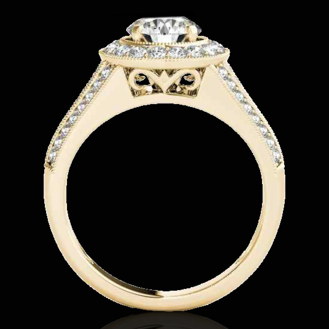 1.7 CTW H-SI/I Certified Diamond Solitaire Halo Ring - 2