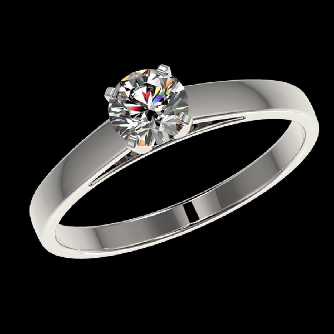 0.50 CTW Certified H-SI/I Quality Diamond Solitaire - 2