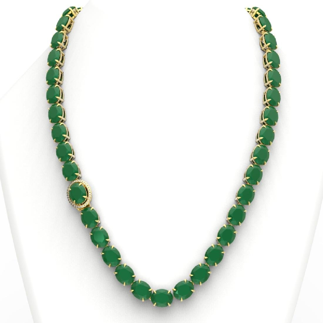 170 CTW Emerald & VS/SI Diamond Halo Micro Solitaire - 3