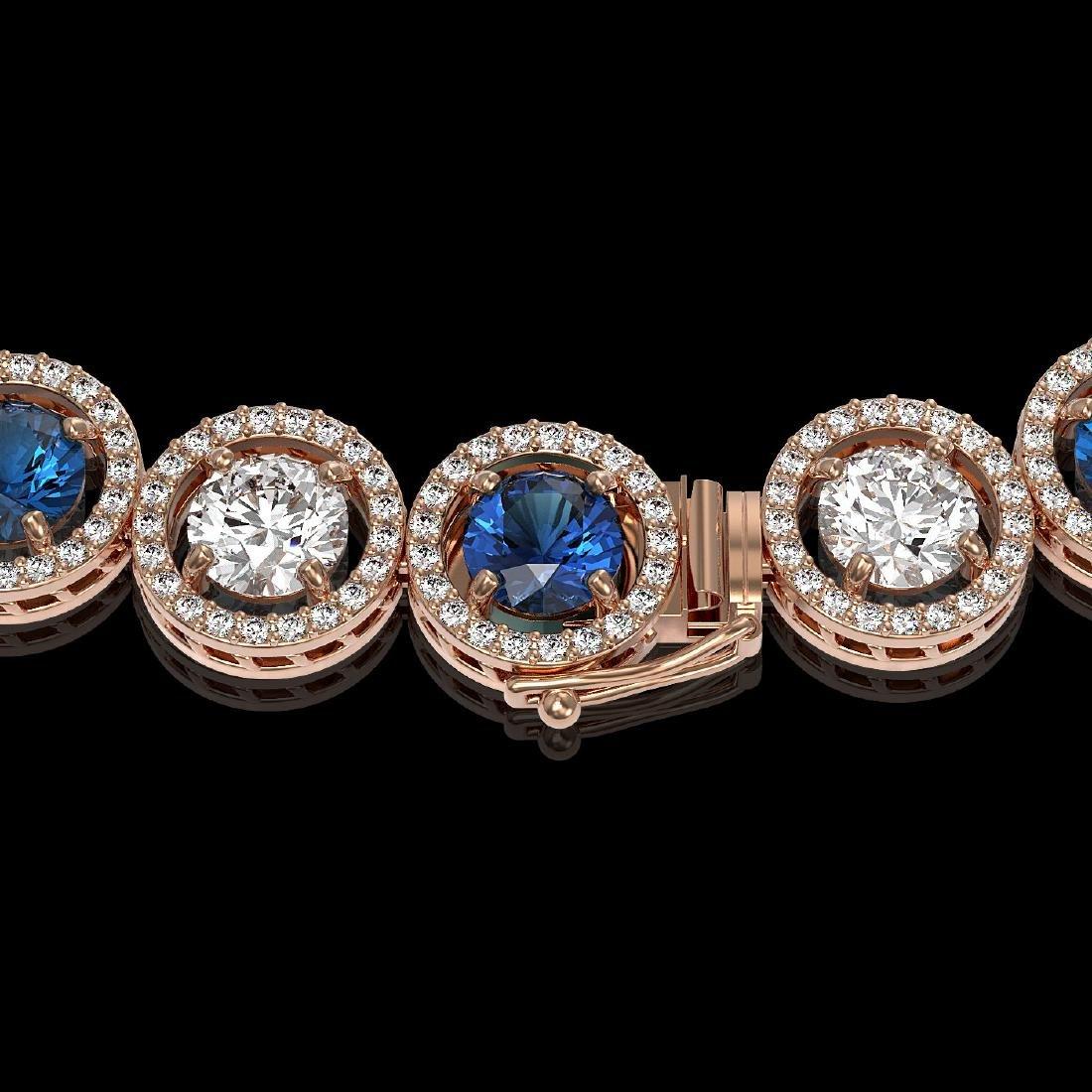 31.18 CTW Blue & White Diamond Designer Necklace 18K - 3