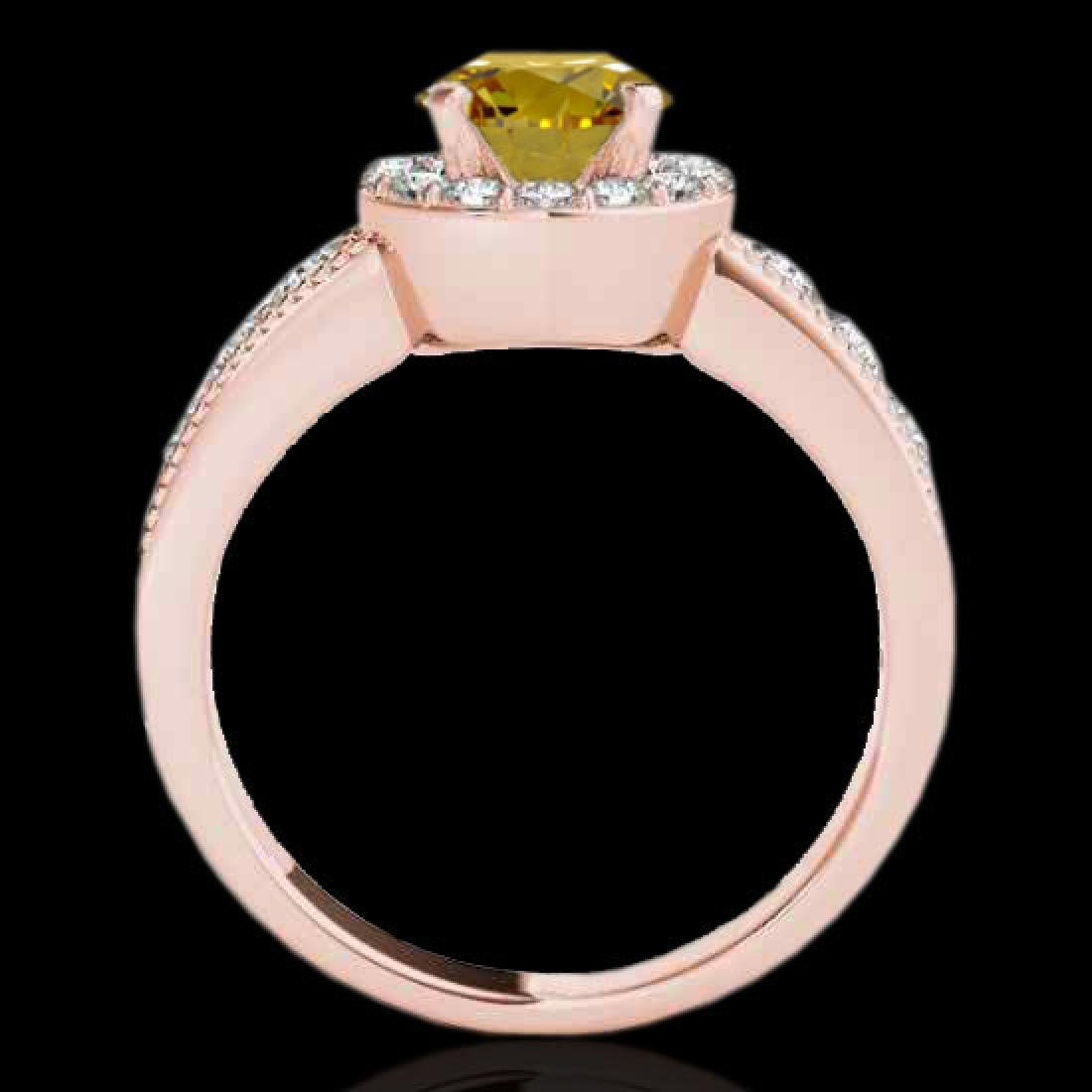 2.1 CTW Certified SI/I Fancy Intense Yellow Diamond - 2