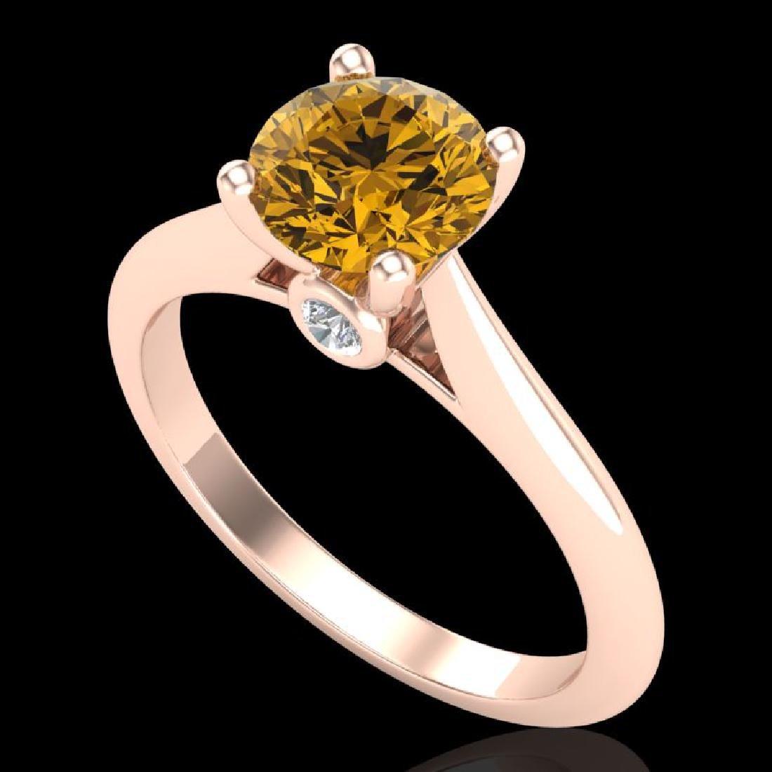 1.36 CTW Intense Fancy Yellow Diamond Engagement Art