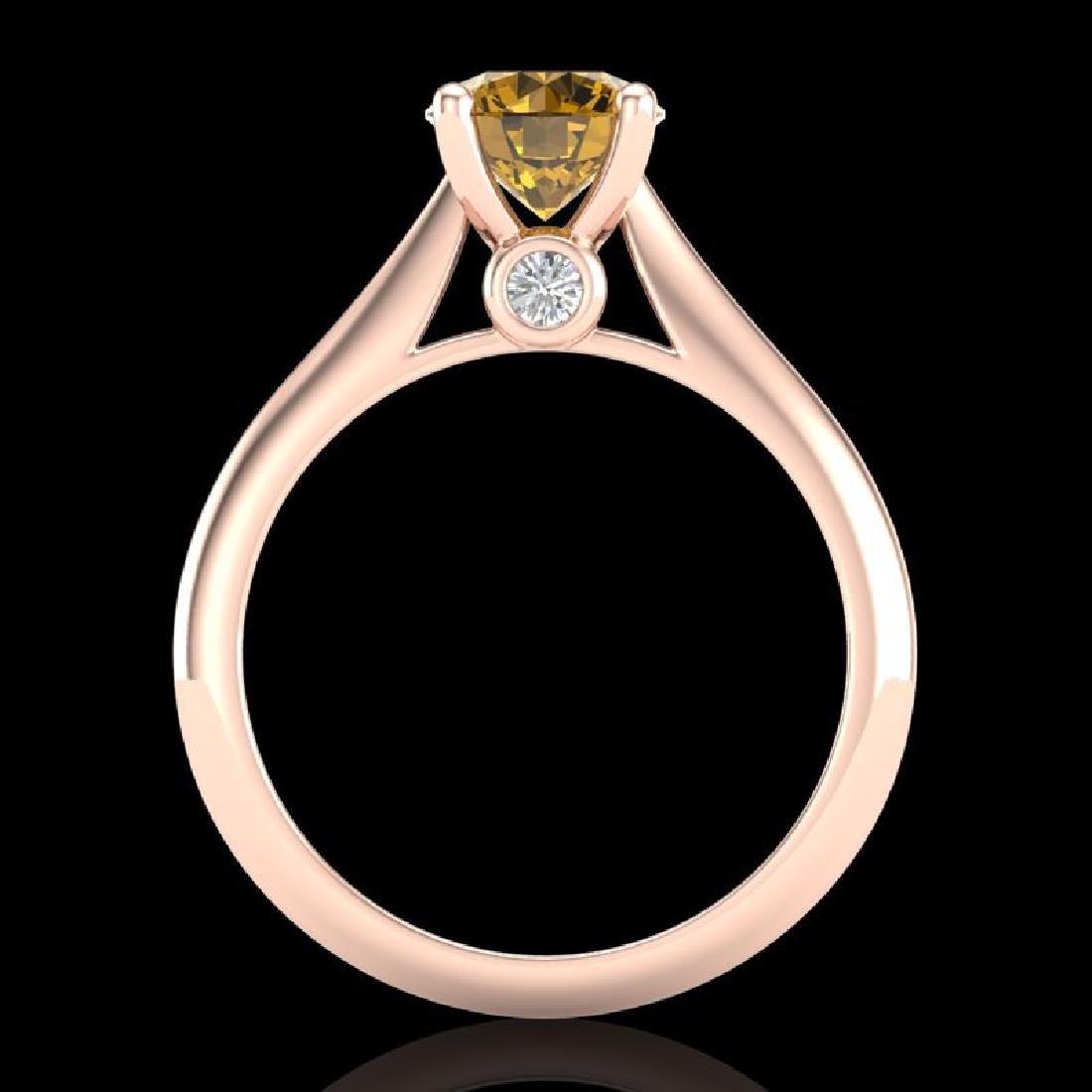 1.36 CTW Intense Fancy Yellow Diamond Engagement Art - 3