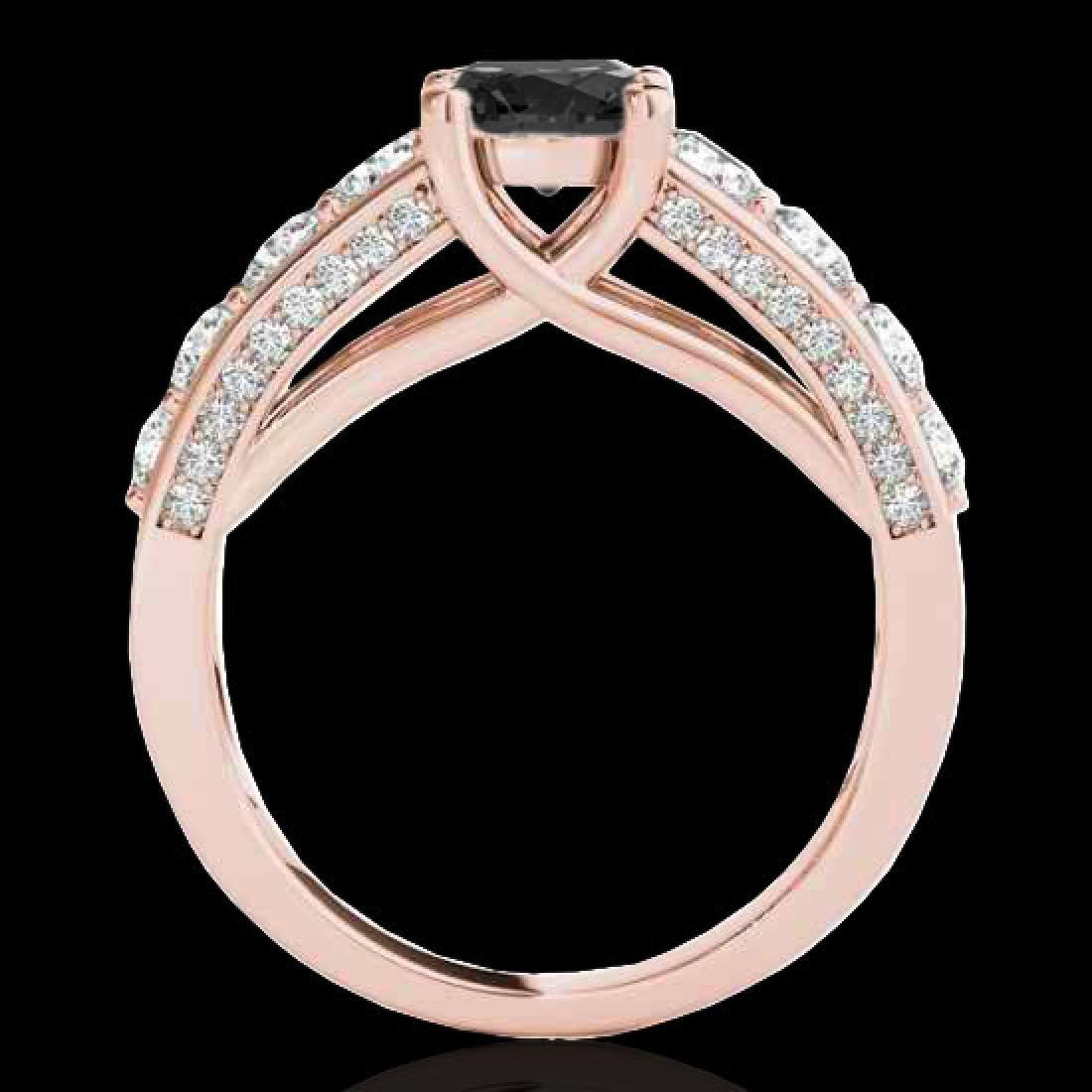 3.05 CTW Certified VS Black Diamond Solitaire Ring 10K - 2