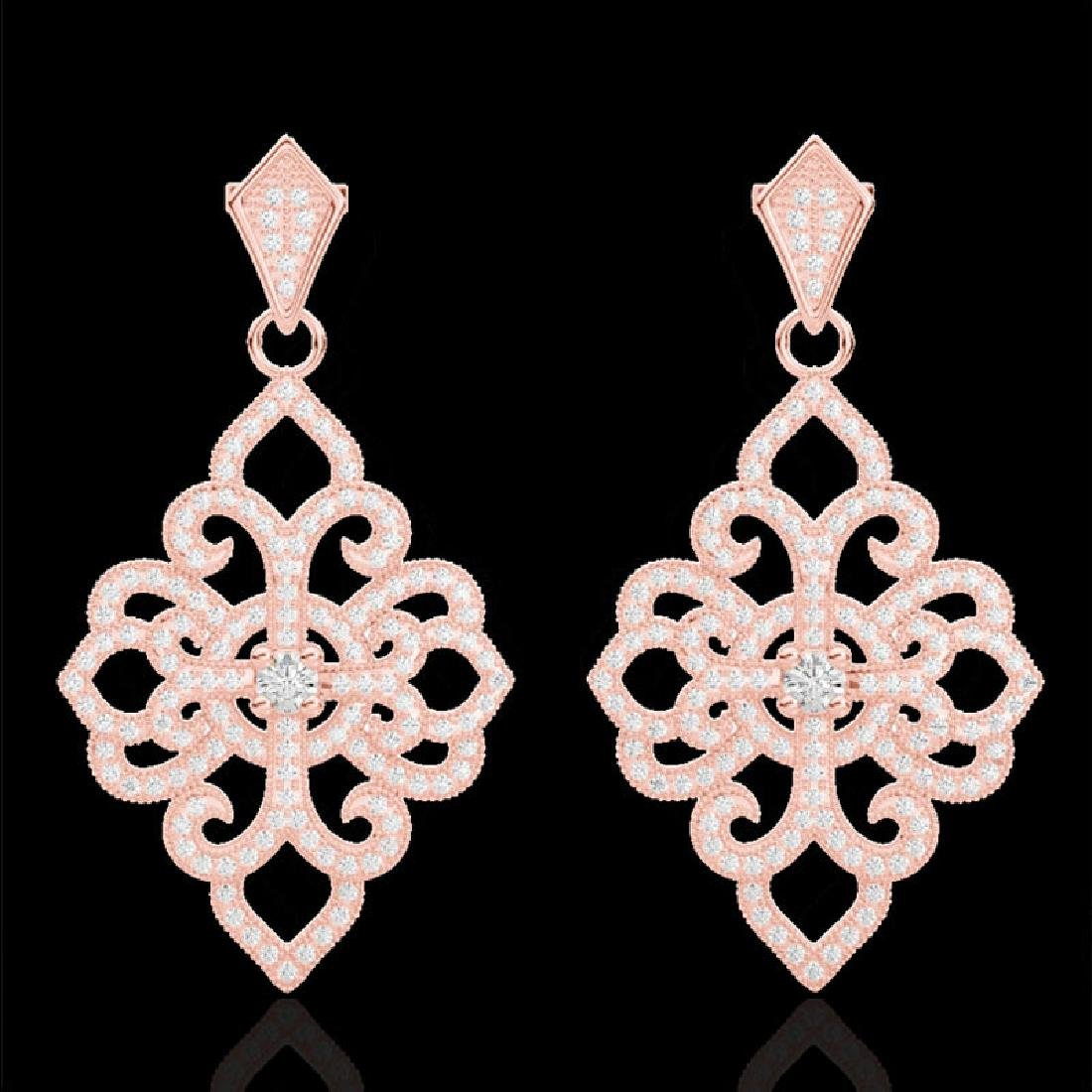 2.50 CTW Micro Pave VS/SI Diamond Designer Earrings 14K