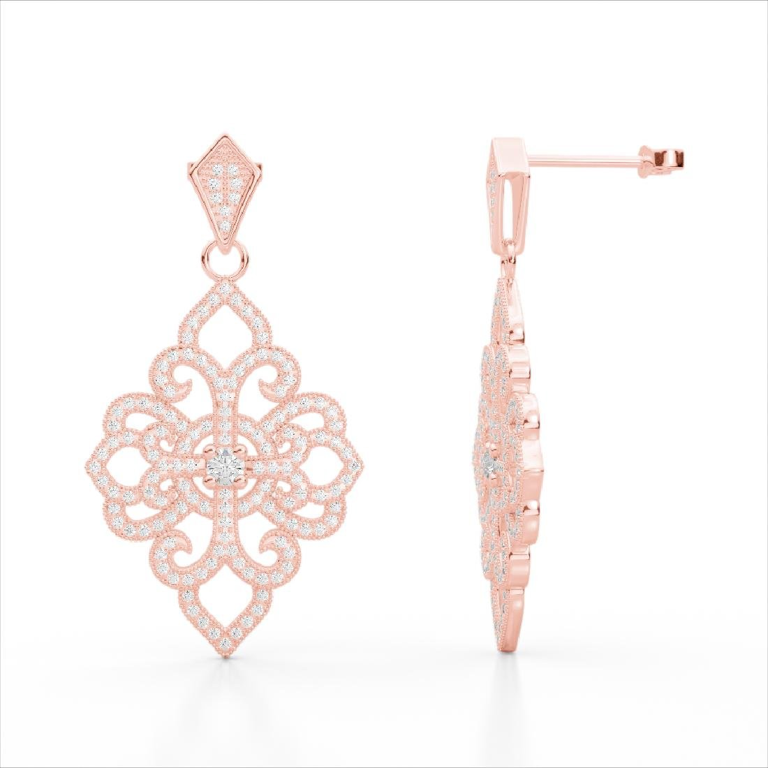 2.50 CTW Micro Pave VS/SI Diamond Designer Earrings 14K - 2
