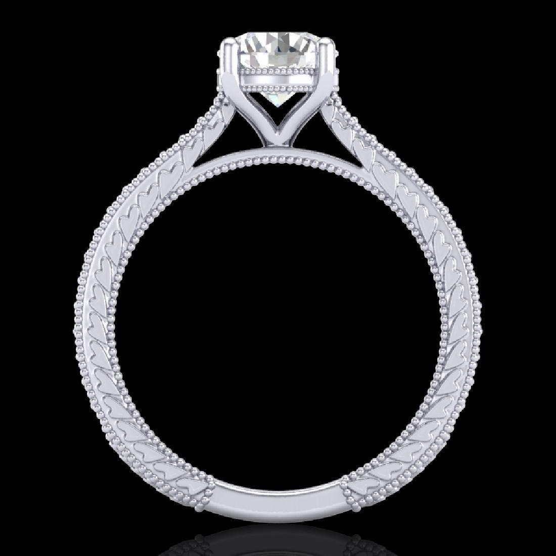 1.45 CTW VS/SI Diamond Art Deco Ring 18K White Gold