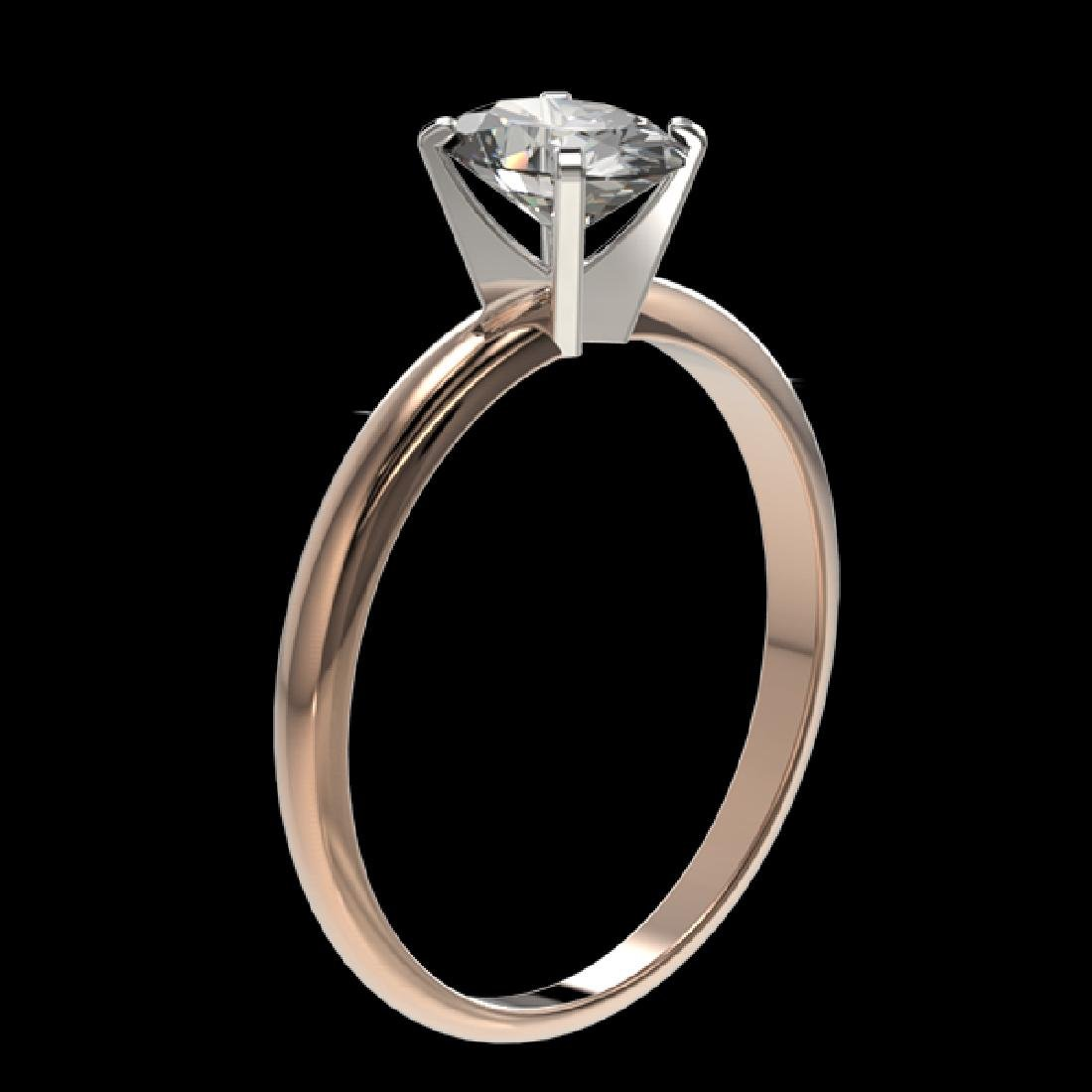 1 CTW Certified VS/SI Quality Oval Diamond Solitaire - 3