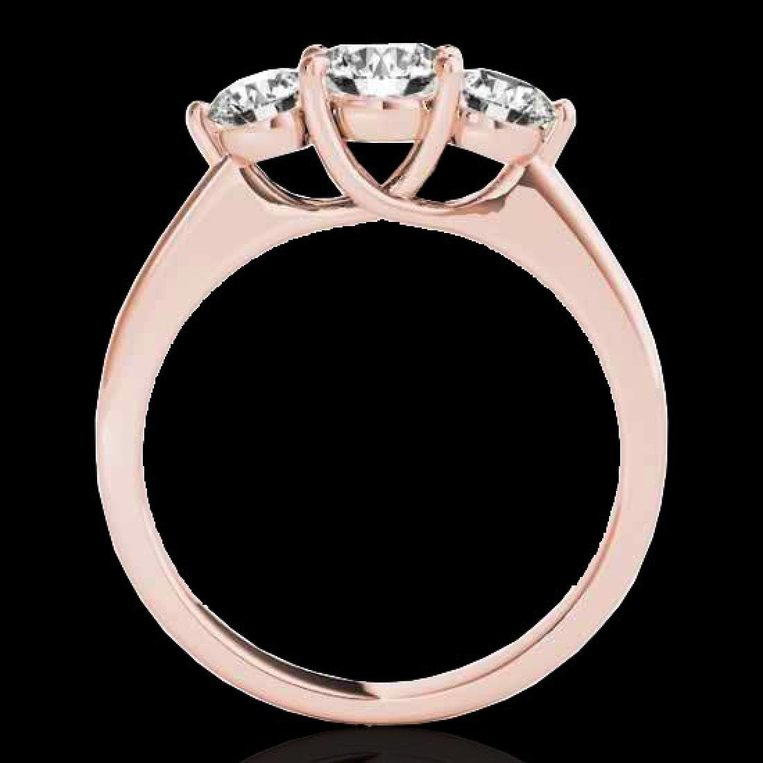 3 CTW H-SI/I Certified Diamond 3 Stone Solitaire Ring - 2