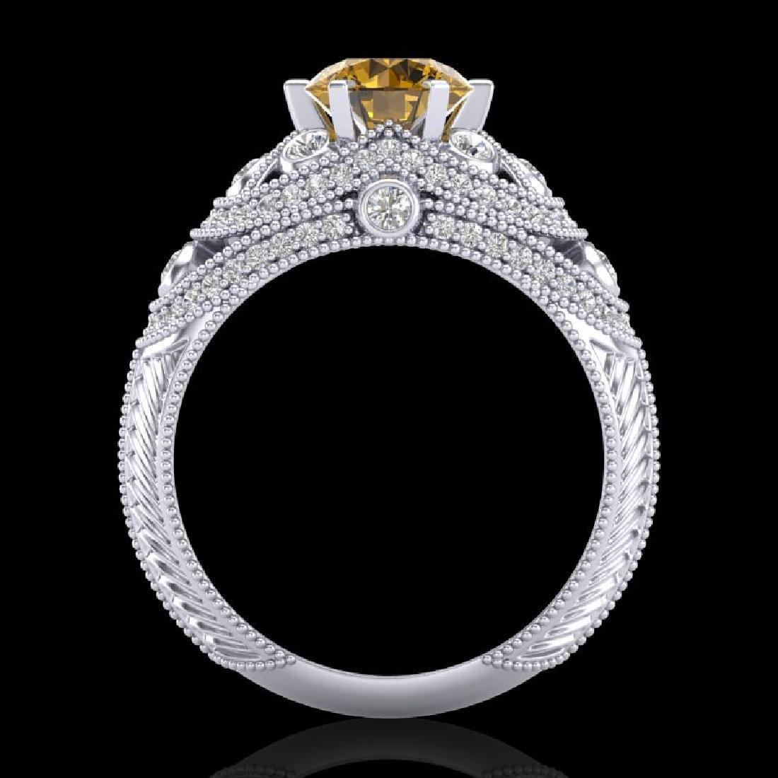 2 CTW Intense Yellow Diamond Solitaire Engagement Art - 3