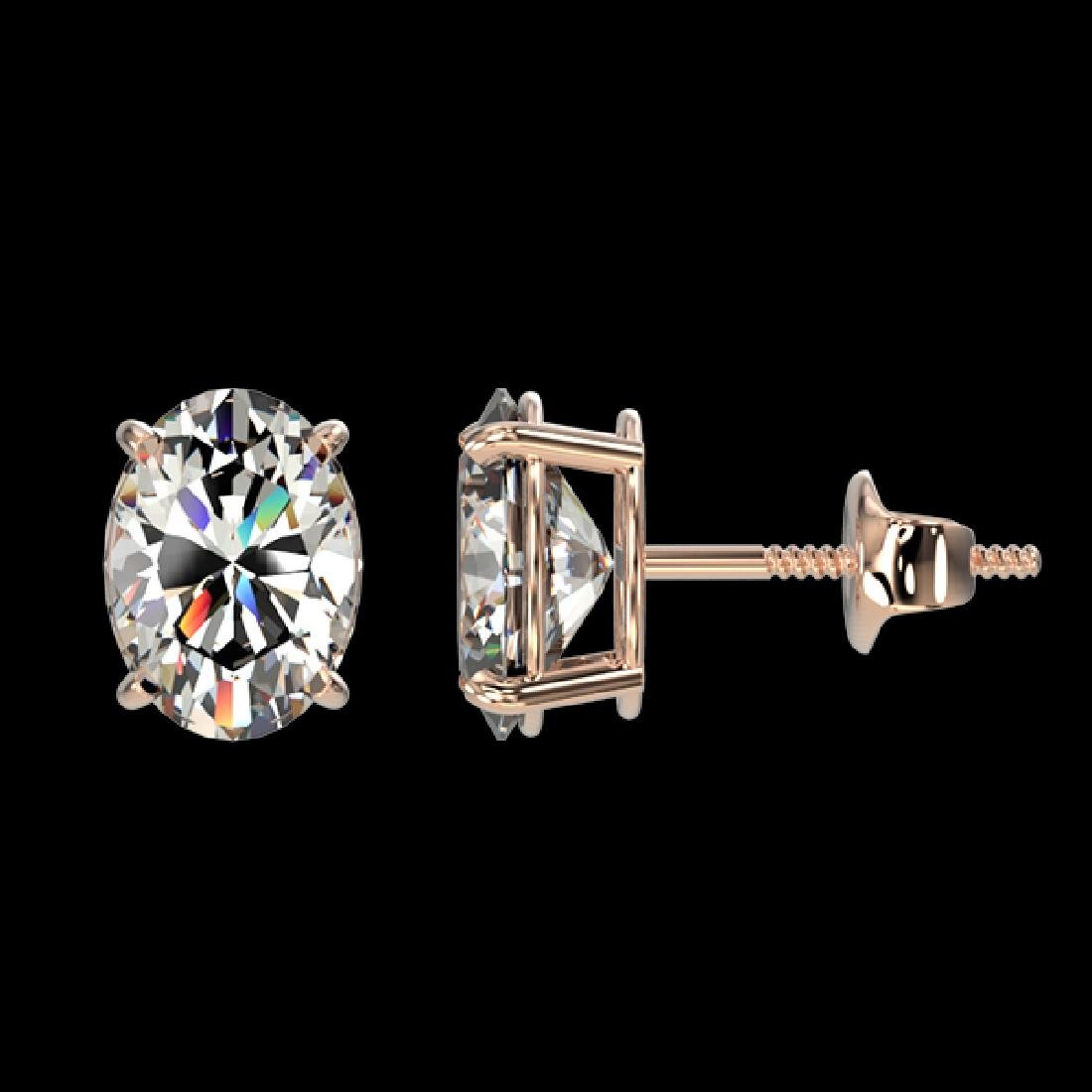 2 CTW Certified VS/SI Quality Oval Diamond Solitaire - 2